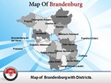 Detailed Brandenburg Map Templates For Powerpoint