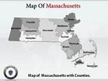 Maps Massachusetts Templates For Powerpoint