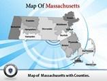 Massachusetts Maps Templates For Powerpoint