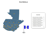 Guatemala (XML) Map Templates For Powerpoint