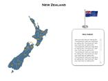 New Zealand XML Map Powerpoint Templates