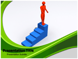 Man on Stairs Templates For Powerpoint