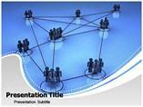 Business Network Interlinking PowerPoint Templates