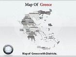 Greece Map Templates For Powerpoint