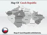 Czech Republic Map Templates For Powerpoint