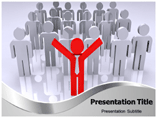 Stand Out Of The Crowd Templates For Powerpoint