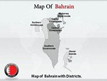 Bahrain Map Templates For Powerpoint