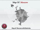 Moscow Map Templates For Powerpoint