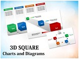 3D Cube Template PowerPoint