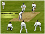 Cricket Field PowerPoint Template