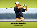 Golf Players   PowerPoint Template