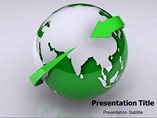 Animated Green Earth  powerpoint template