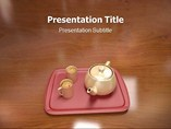 Animated Coffee With Tray PowerPoint template