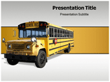 School Bus Transportation  PowerPoint Template