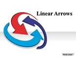 Linear Arrows Chart Powerpoint Template