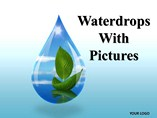 Waterdrops With Pictures Chart Powerpoint Template