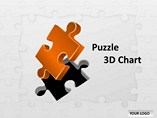 Puzzle 3D Chart Template PowerPoint
