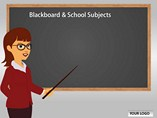 Blackboard School Subjects Chart Templates for Powerpoint
