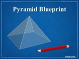 Pyramid Blueprint Chart Templates for Powerpoint