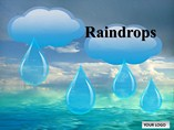 Rain Drop Chart Templates for Powerpoint