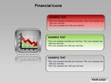 Financial Icons Chart Templates for Powerpoint