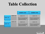 Table Collection Chart Powerpoint Template