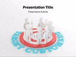 Targeted Customers Templates For Powerpoint