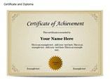 Certificate and Diploma Chart PowerPoint Template