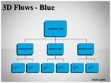 3D Flows Blue Powerpoint Template