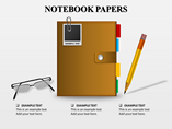 Notebooks Papers PowerPoint Template
