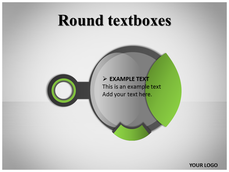 Round Textboxes PowerPoint Template