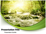 Light In The Forest PowerPoint Template