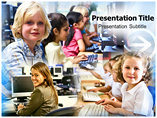 Computer Classes in School and University Templates For Powerpoint