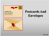 Postcards and Envelopes charts Powerpoint Template