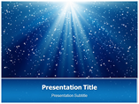 Blue Luminous Rays PowerPoint Template