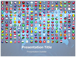 Flags of the World Buttons Templates For Powerpoint