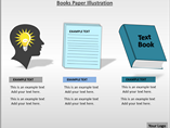 Books Paper Illustration PowerPoint Template