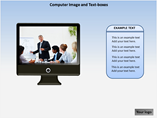 Computer Image and Text Boxes PowerPoint Template