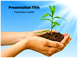 Plant in Hands Templates For Powerpoint