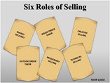 Six Roles of Selling PPT Template