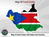 Southern Sudan Map Templates For Powerpoint