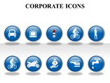 Corporate Icon Powerpoint Template