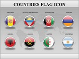 Countries Flag Icon Powerpoint Template