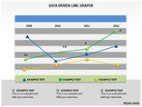 DATA DRIVEN LINE GRAPHS Powerpoint Template
