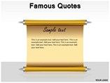 Famous Quotes Powerpoint Template