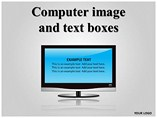 Computer Image and Text Box Powerpoint Template