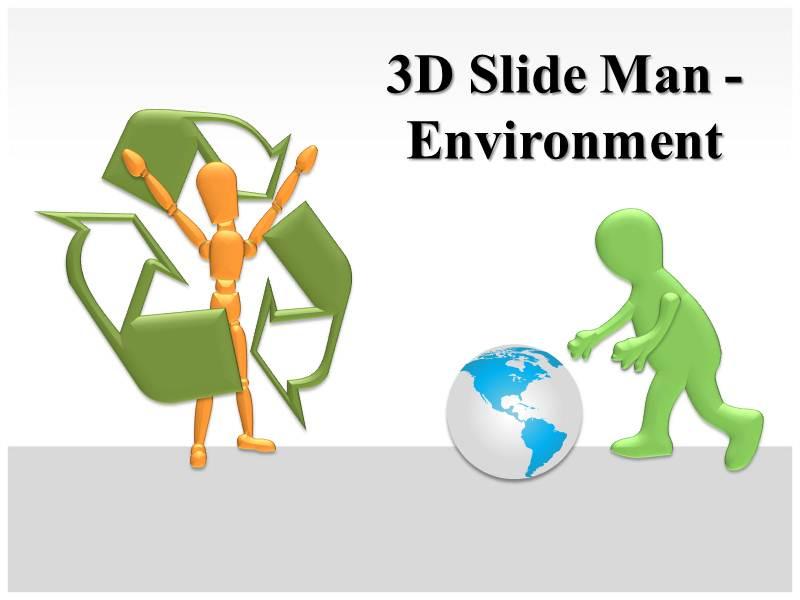 3D Slide Man Powerpoint Template
