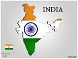 INDIA Powerpoint Map Templates For Powerpoint
