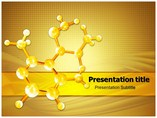 Golden Abstract Molecules Powerpoint Template