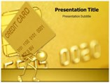 Golden Credit Card Powerpoint Template
